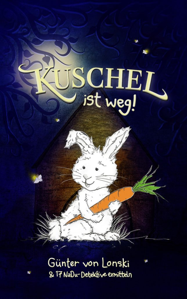 Coverdesign Kinderbuch Kuschel ist weg