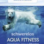 Anzeigengestaltung für das KPW Garbsen. Schwerelos mit Aqua Gymnastik