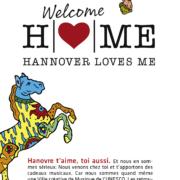 Flyergestaltung Welcome HOME für das Kre|H|tiv Netzwerk Hannover