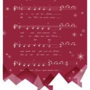 Design Weihnachtskarte für PeppermintPark, Stadt im Schnee