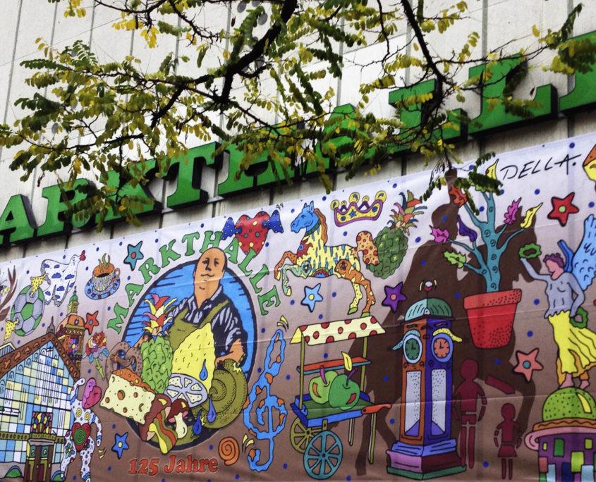 Plakat 125 Markthalle Hannover von dem Künstler Della