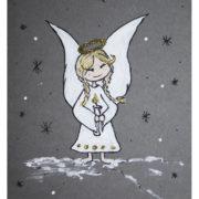 Illustration Weihnachtskarte mit Engel