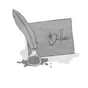 Illustration Brief mit Feder und Tinte aus dem Buch Applejucy